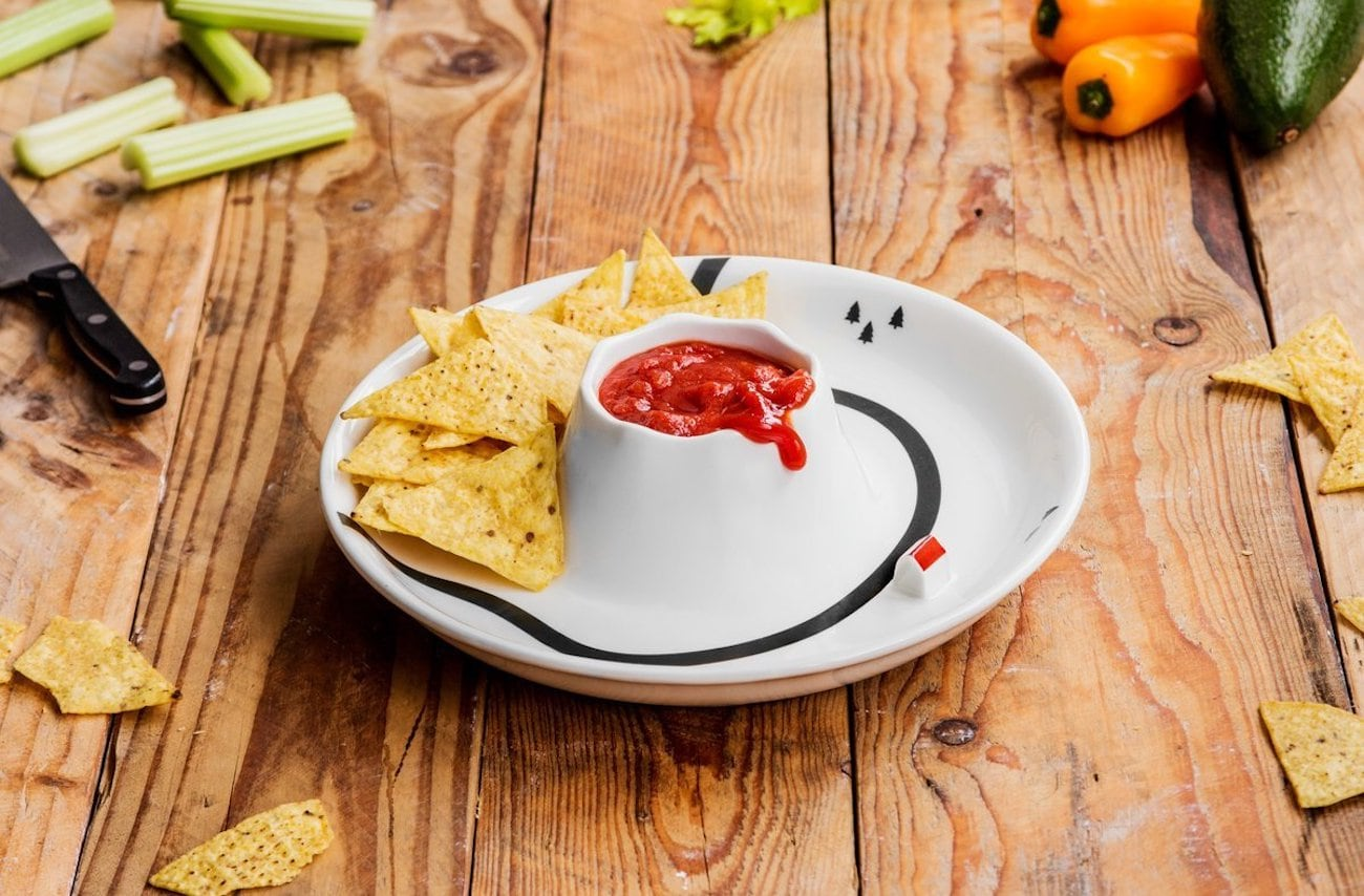 Suck UK Ceramic Volcano Dip Bowl