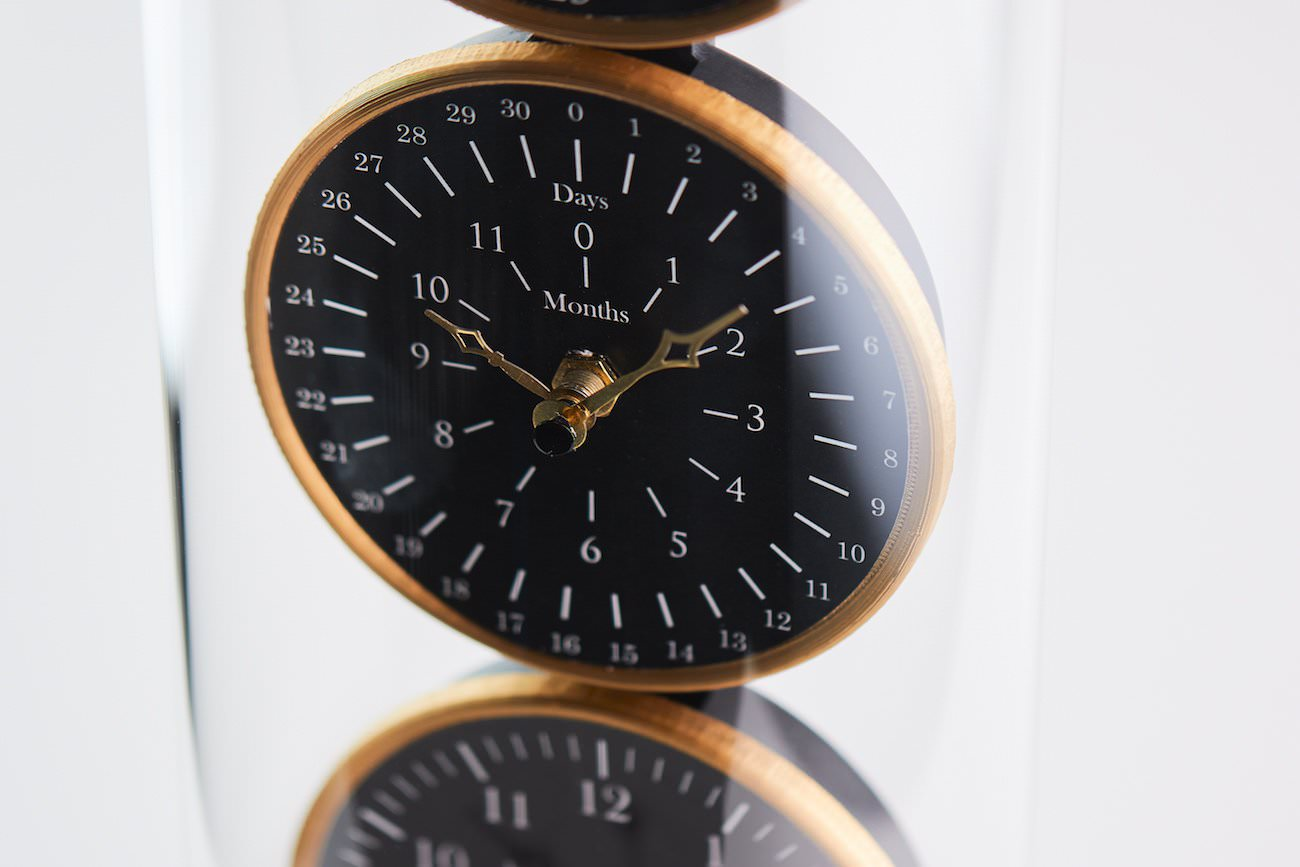 You'll never forget your big day with the Anniversary Clock