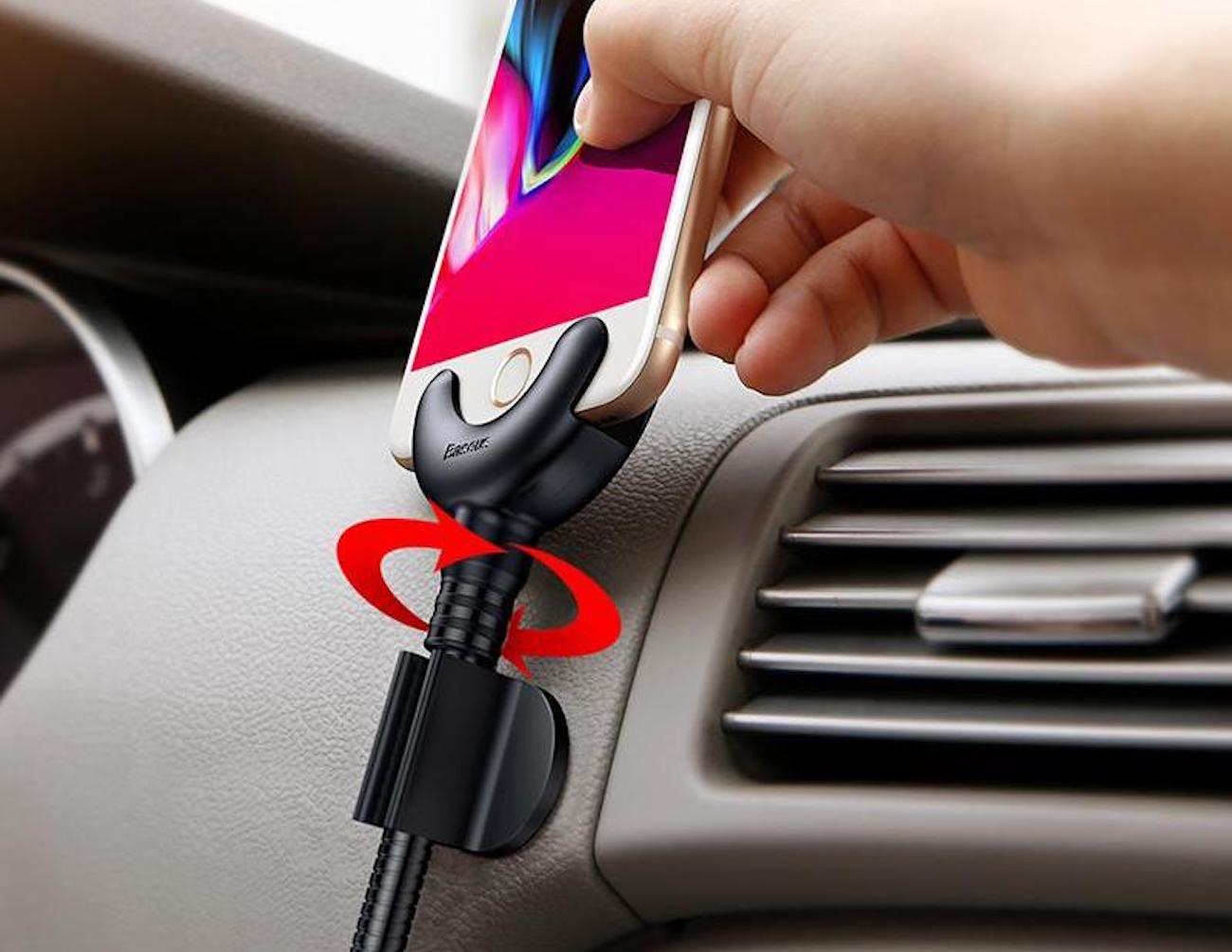 360-Degree iPhone Car Charging Stand