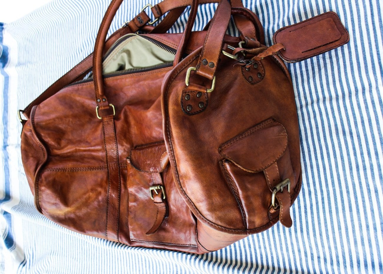 BNVVT 50 Years Young Large Leather Duffle