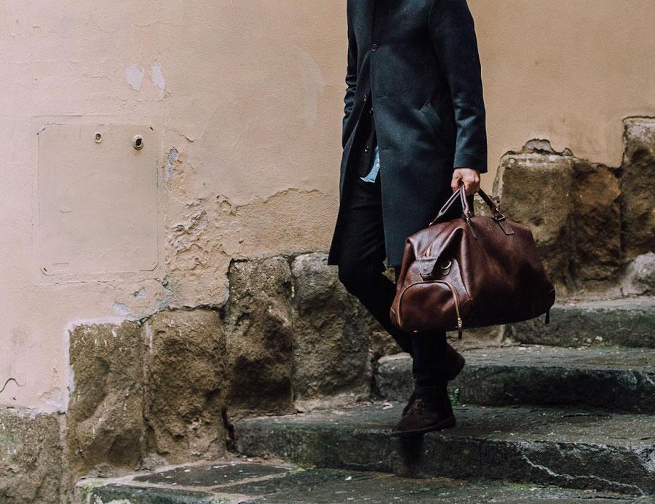 Bennett Winch Leather Weekender Bag