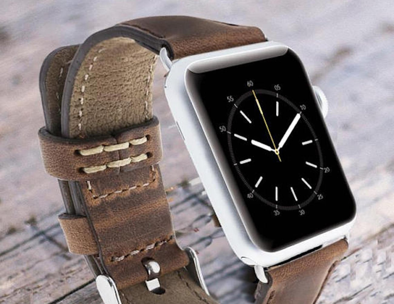 ByBarva Unisex Leather Apple Watch Band