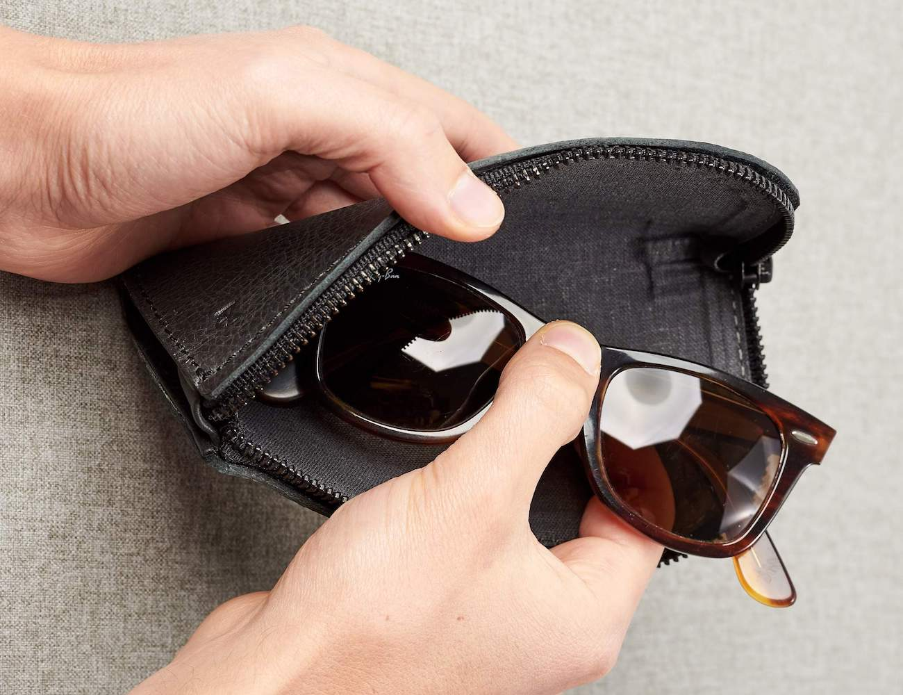 Capra Leather Glasses Case