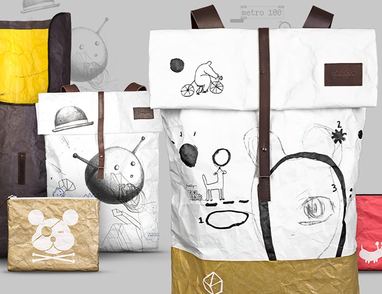 Crazy-light Collaborative Art Bags by Stiglo