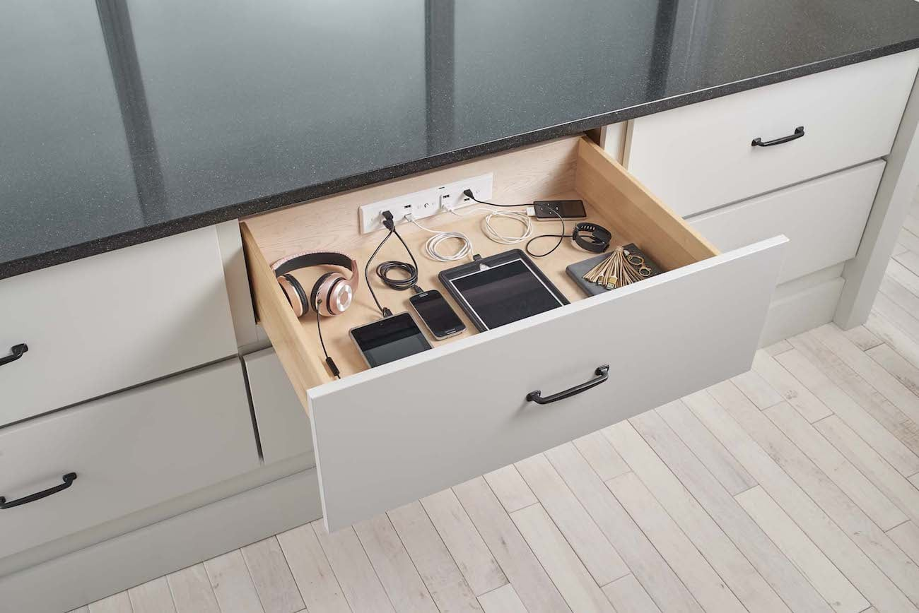Docking Drawer In-Drawer Electrical Outlets