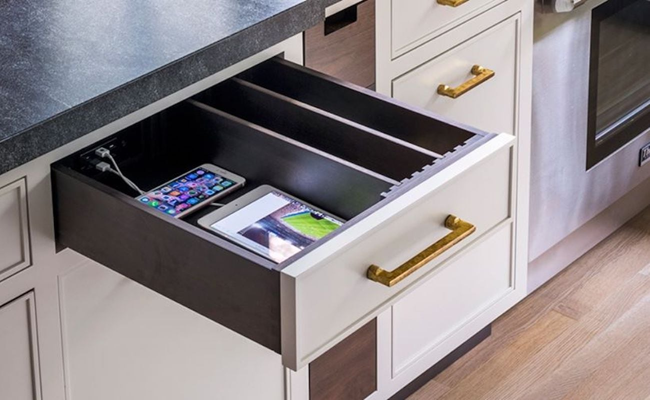 Docking Drawer In Electrical Outlets