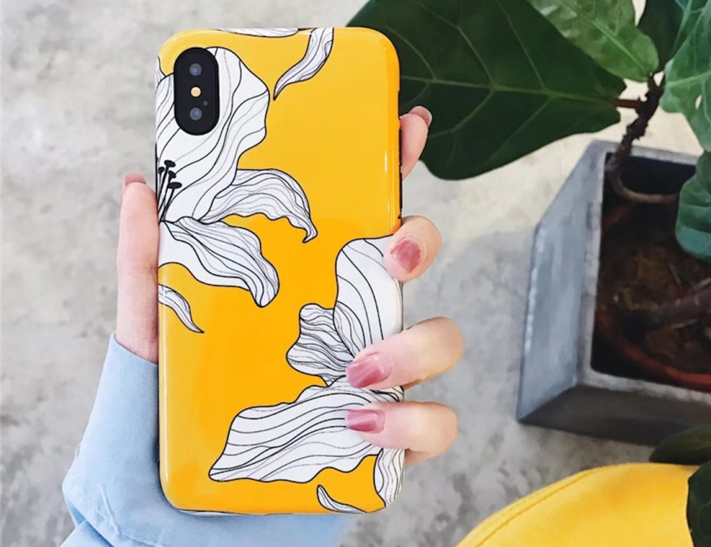 Floral+Painted+Petals+iPhone+Case