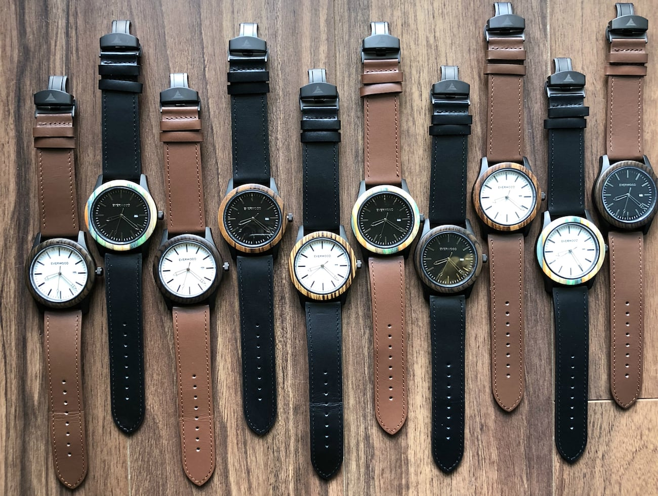Inverness Rugged Wood and Steel Watch