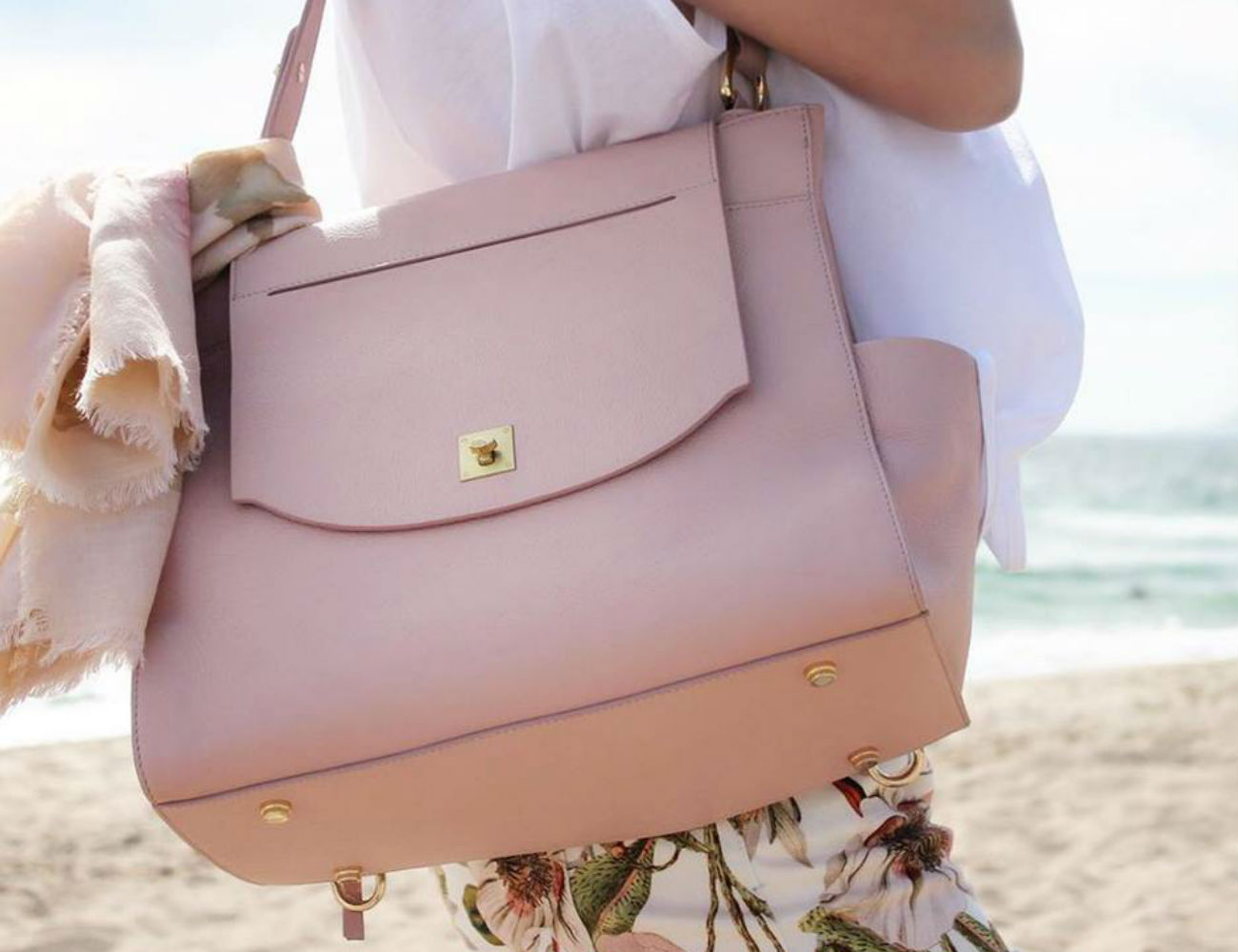 Italian Leather Carryall by Pond Los Angeles