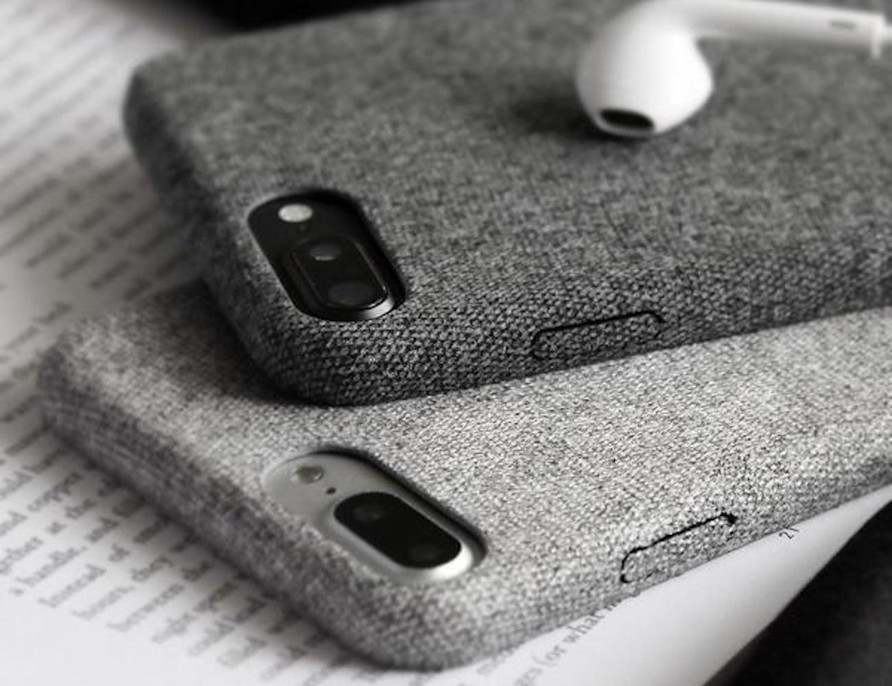 "Kwik Charger Cloth Texture <em class=""algolia-search-highlight"">iPhone</em> Case"