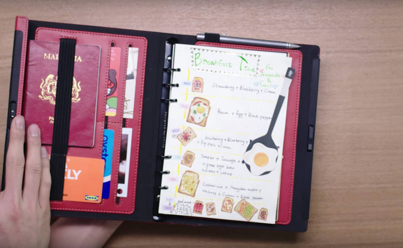 Lockbook Fingerprint Lock Refillable Notebook