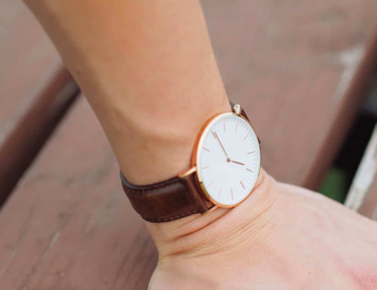 Luxury Rose Gold Wristwatch