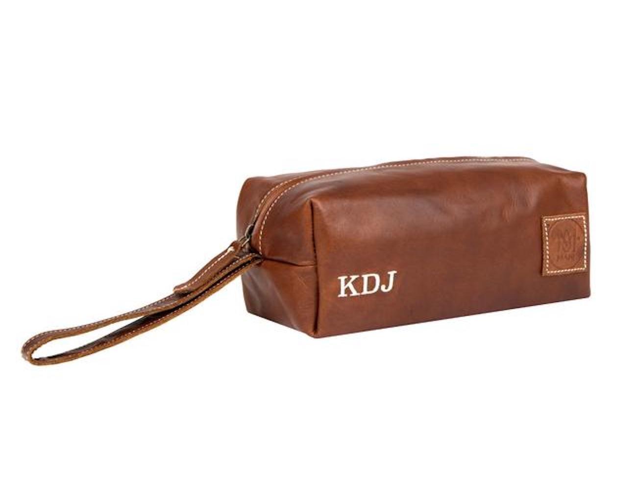 MAHI Leather Classic Wash Bag