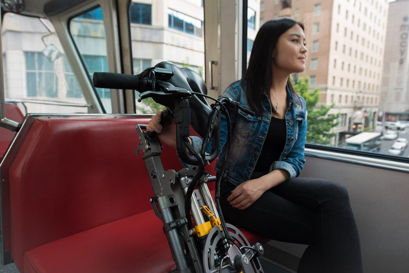MYLO Electric Three-Wheel Folding Scooter