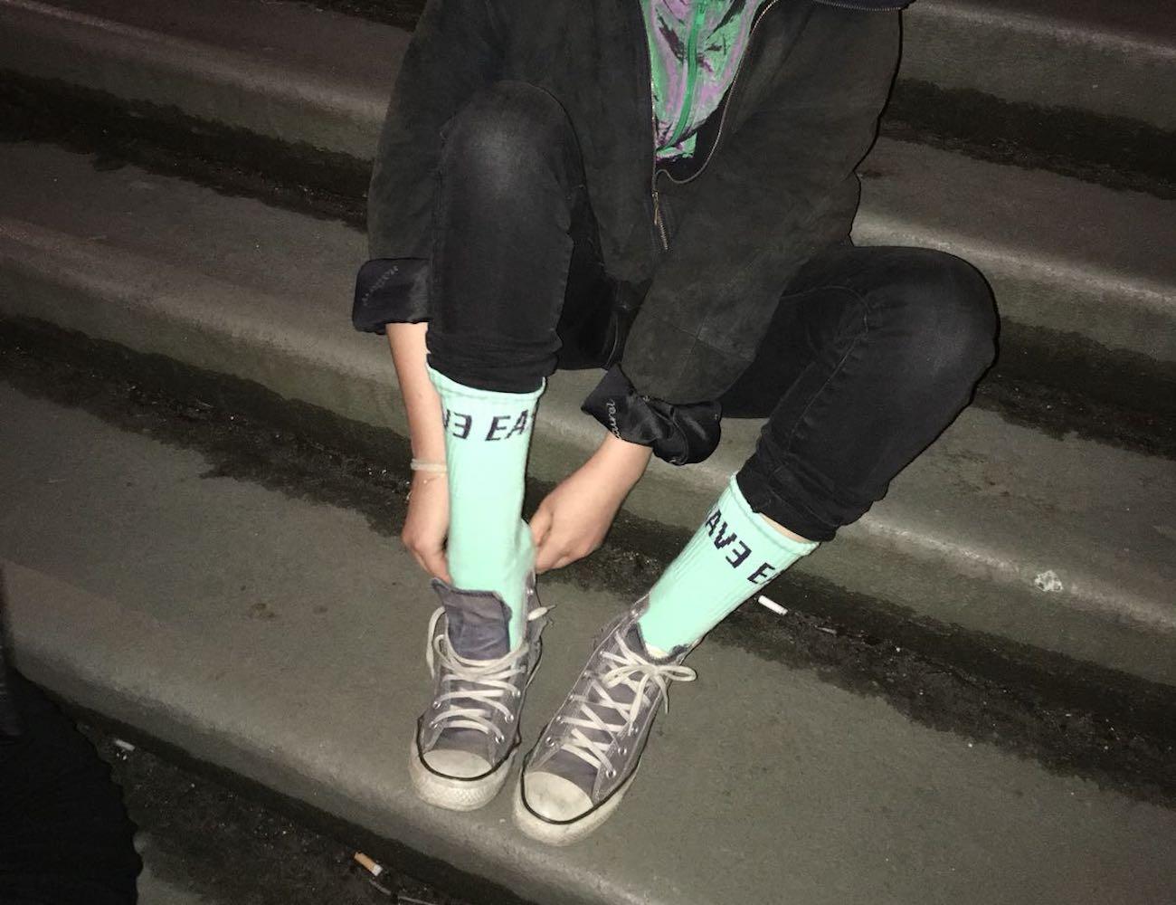 Paperboy Silent Protest Socks