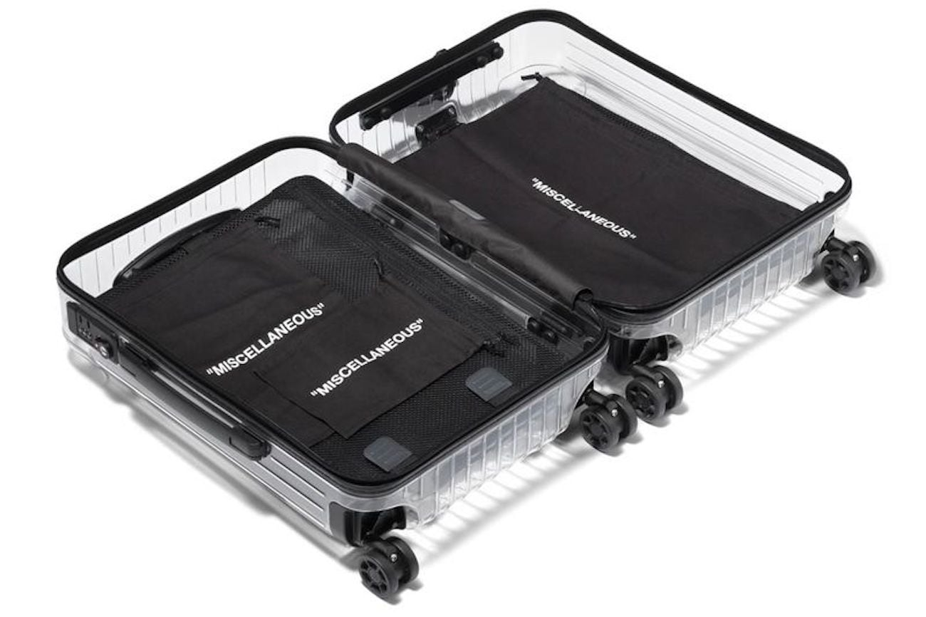 Rimowa X Off-White Transparent Carry-On Case