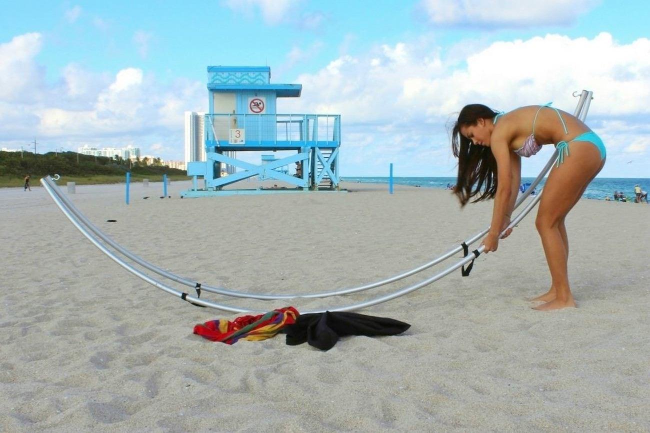 Saturn Folding Beach Hammock Stand