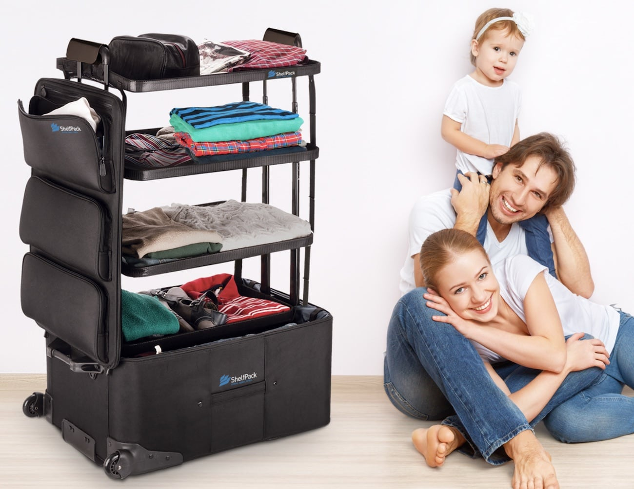ShelfPack Built-In Shelves Luggage