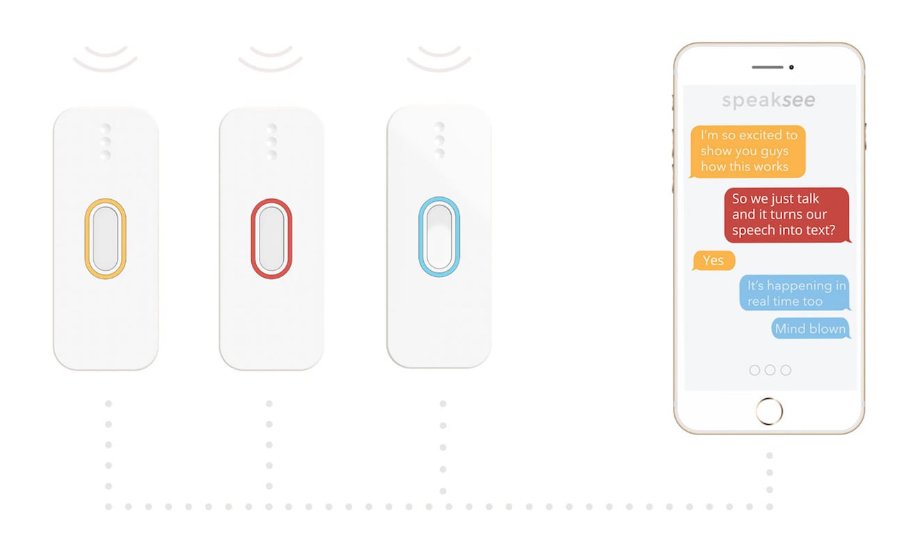 SpeakSee Portable Speech to Text Device