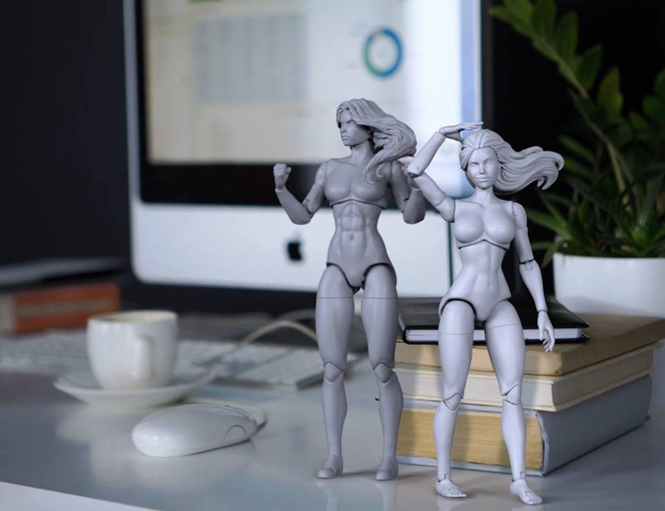 Superheroine Blank Female Action Figures