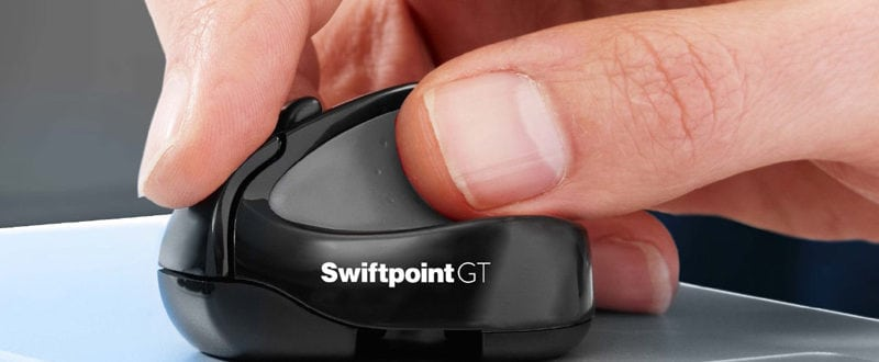 The Swiftpoint GT iPad mouse makes it easy to work on the move