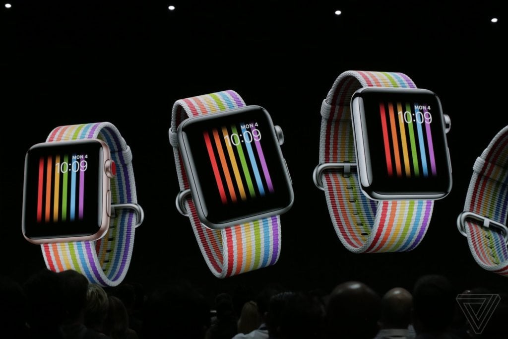 Apple Watch Pride Band / Image Credits: The Verge