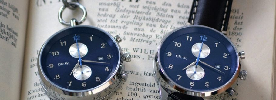 DR.W. is a beautiful wristwatch and pocket watch in one