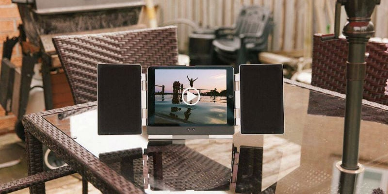 iPad Speaker Stand