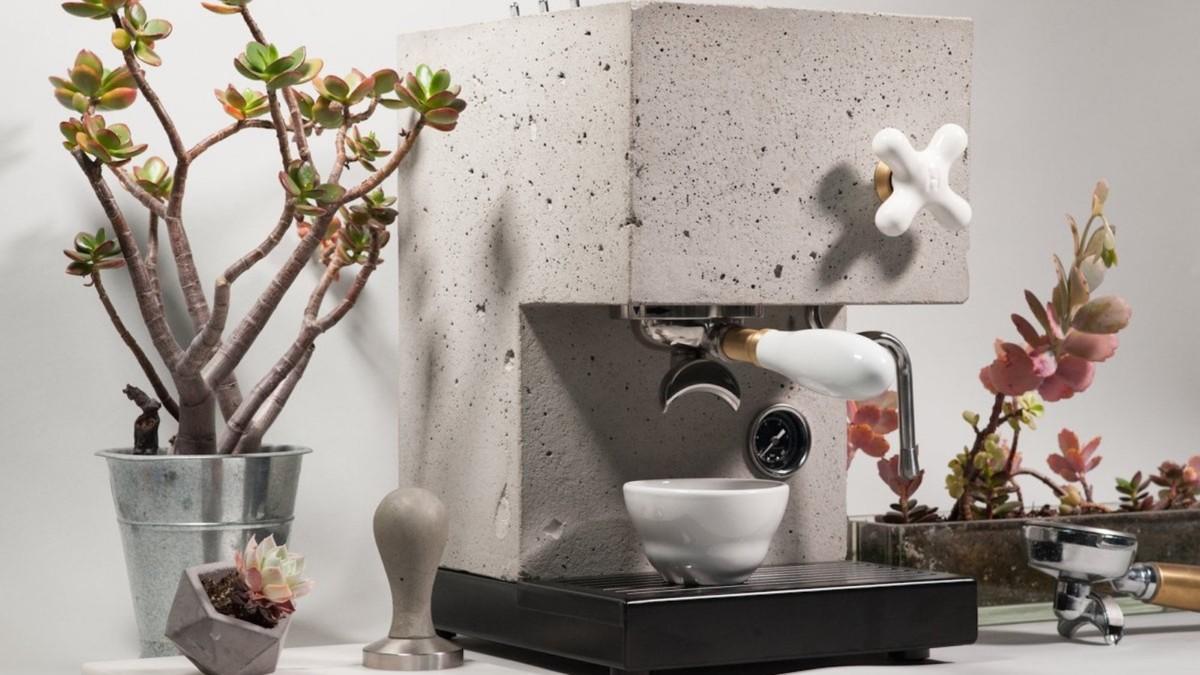 AnZa Concrete Coffee Machine is a striking kitchen appliance
