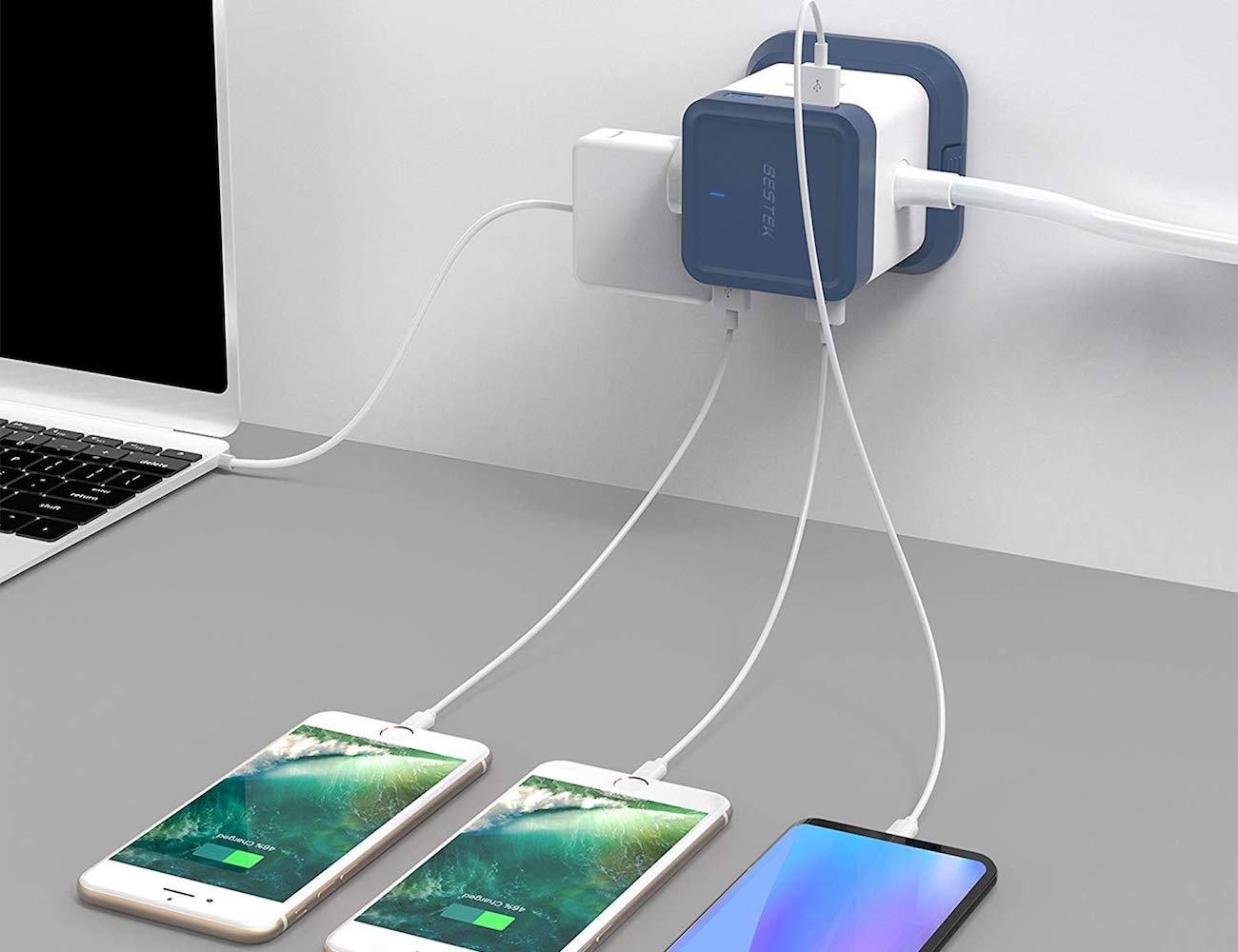 BESTEK Compact USB Power Strip