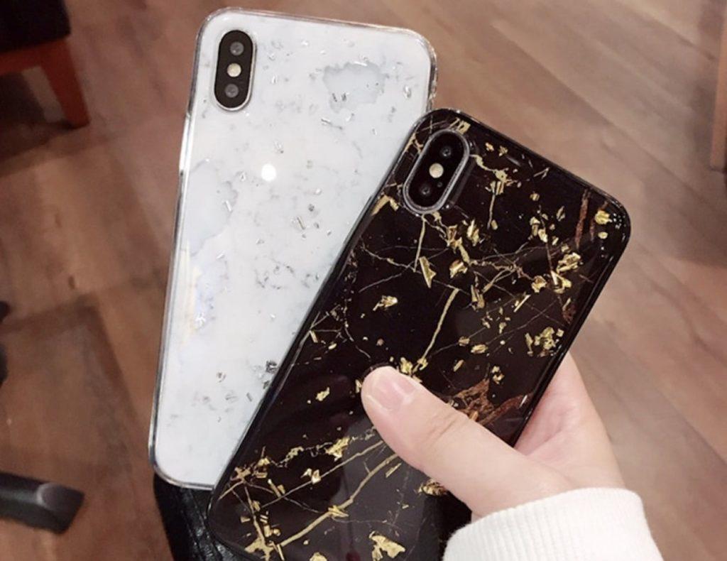 Gold+Foil+Marble+iPhone+Case