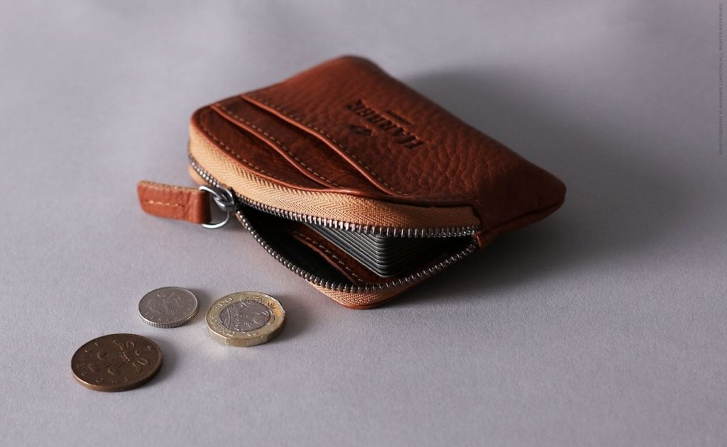 Harber+London+Leather+Zip+Pouch+Wallet