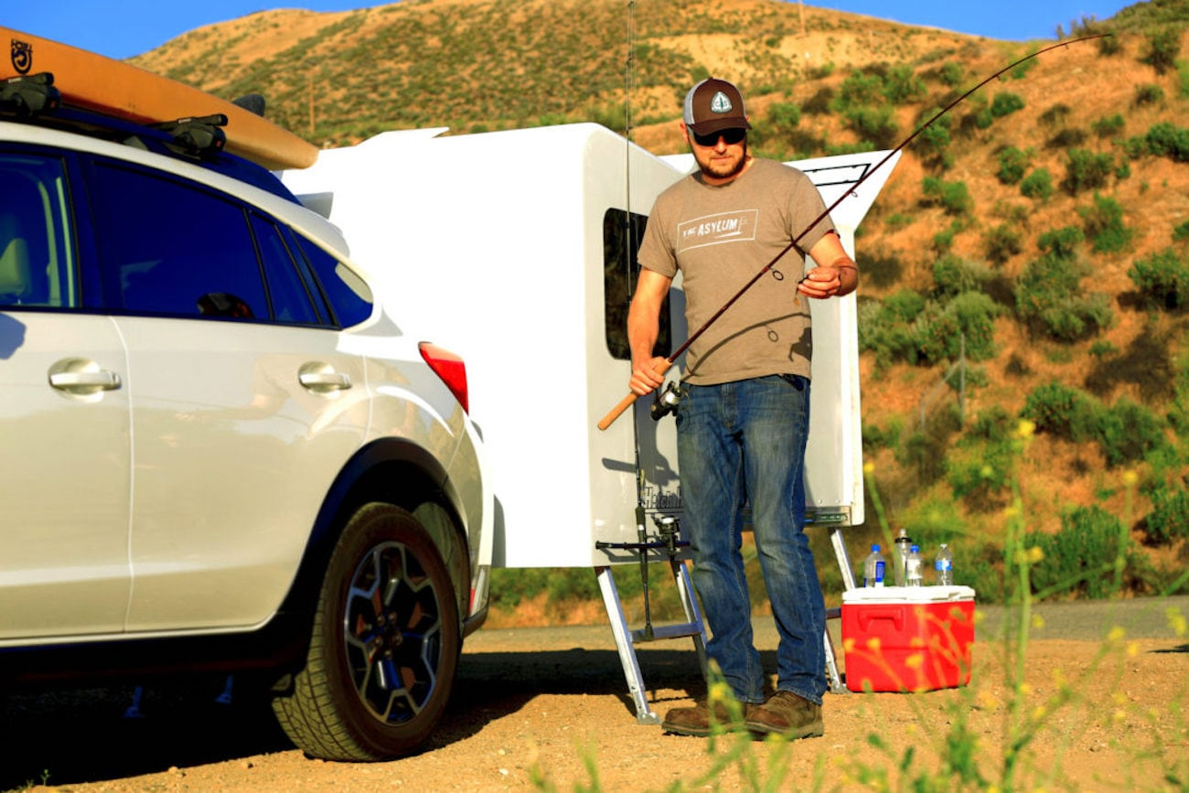 Hitch Hotel Expandable Wheel-Less Trailer