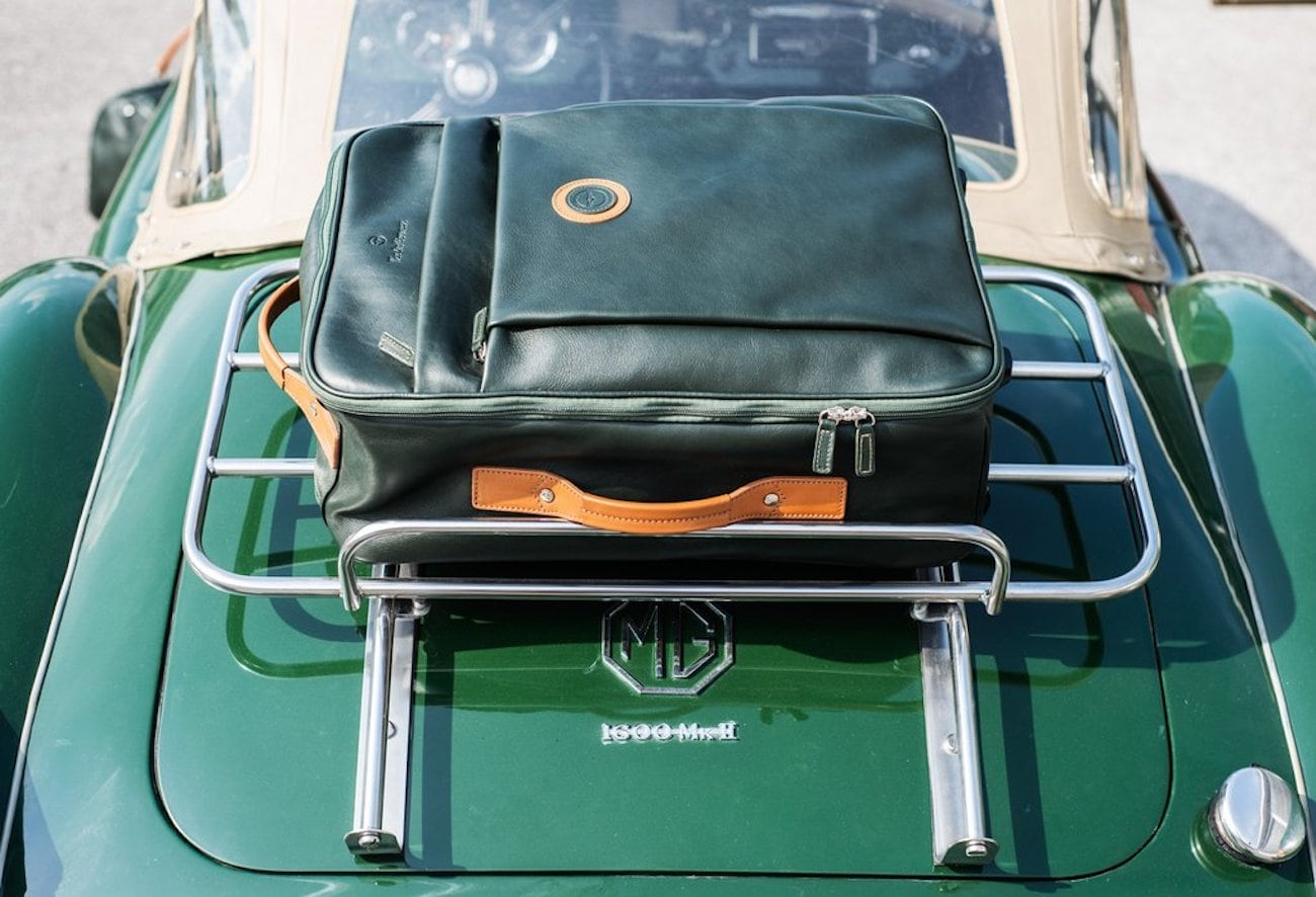 Outlierman Leather Travel Trolley Bag