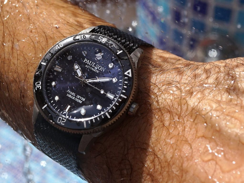 Paulson+Pearl+Diver+Titanium+Automatic+Watch