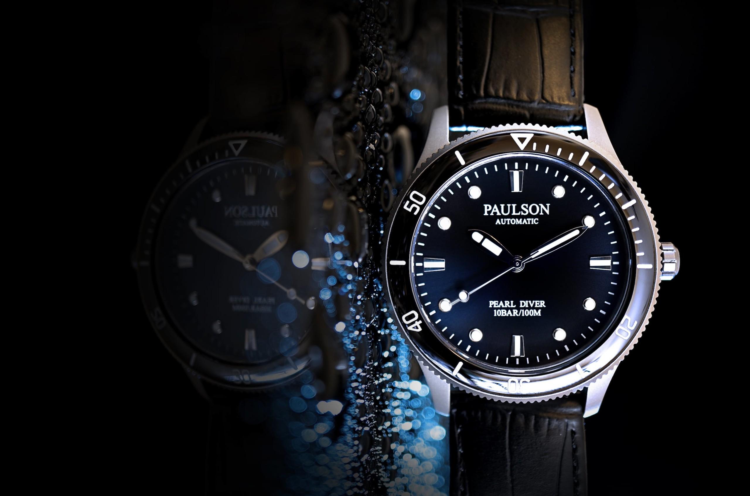 Paulson Pearl Diver Titanium Automatic Watch