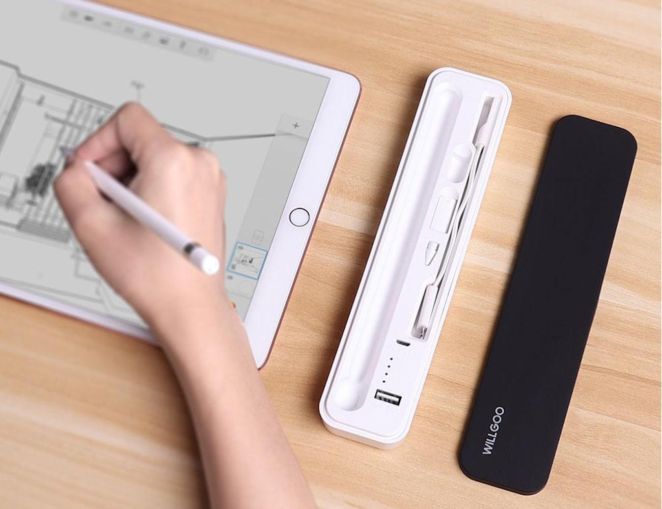 Willgoo Apple Pencil Power Bank Carrying Case