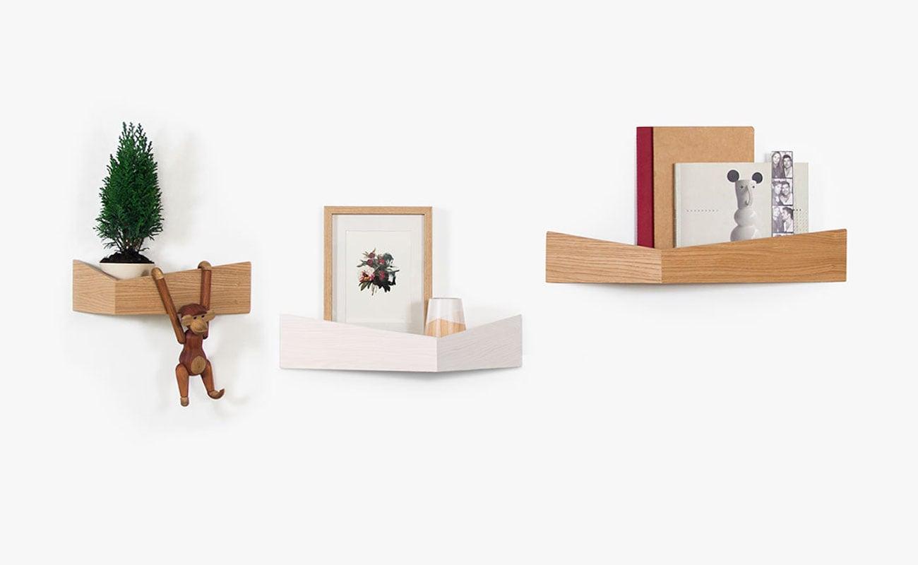 Woodendot Pelican Wooden Floating Shelves