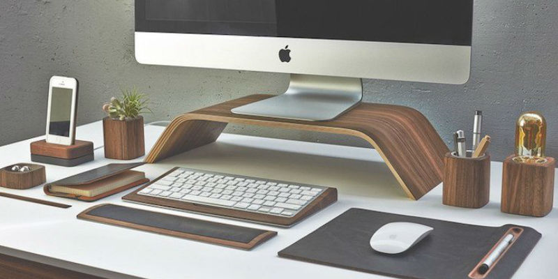 Walnut Monitor Stand