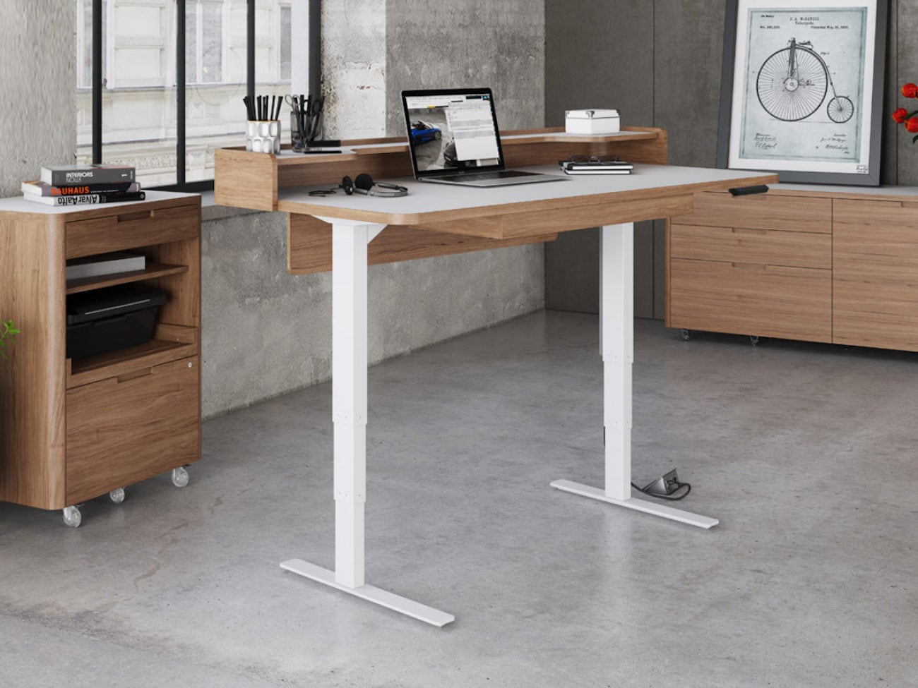 Bdi furniture kronos 6752 lift standing desk