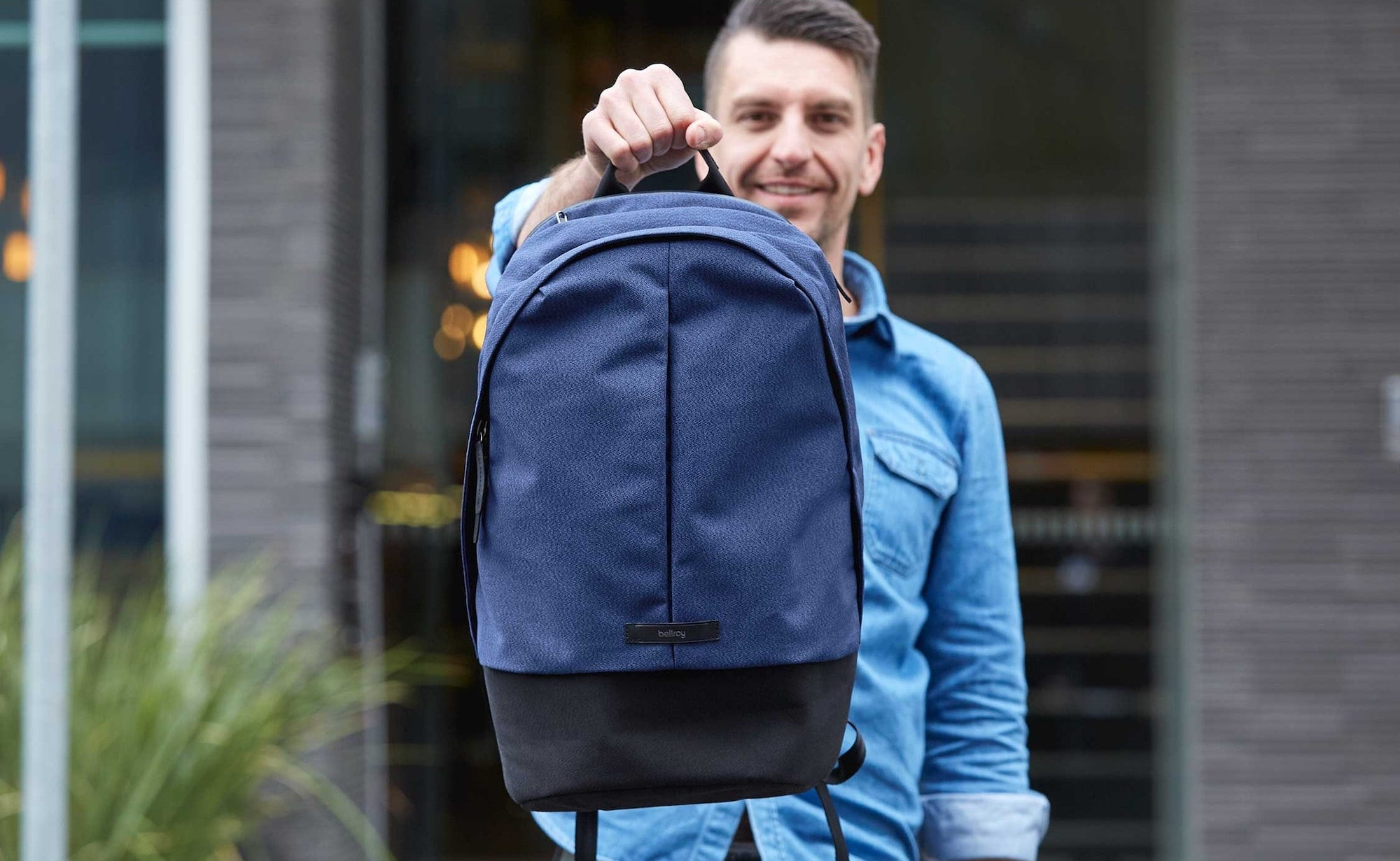Bellroy Classic Backpack Plus Dual-Compartment Pack includes a waterproof laptop compartment