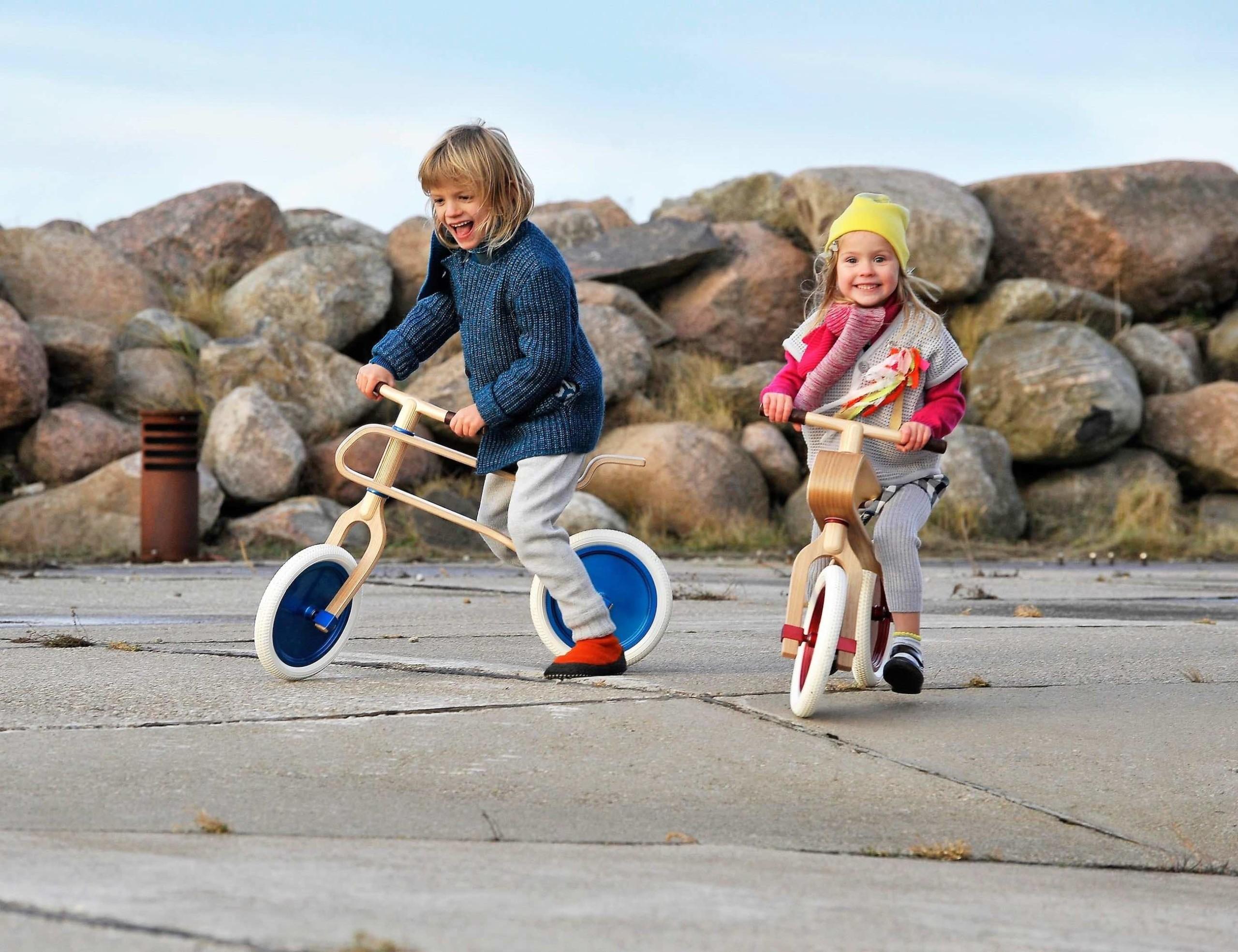 Brum Brum Kids Wooden Balance Bike