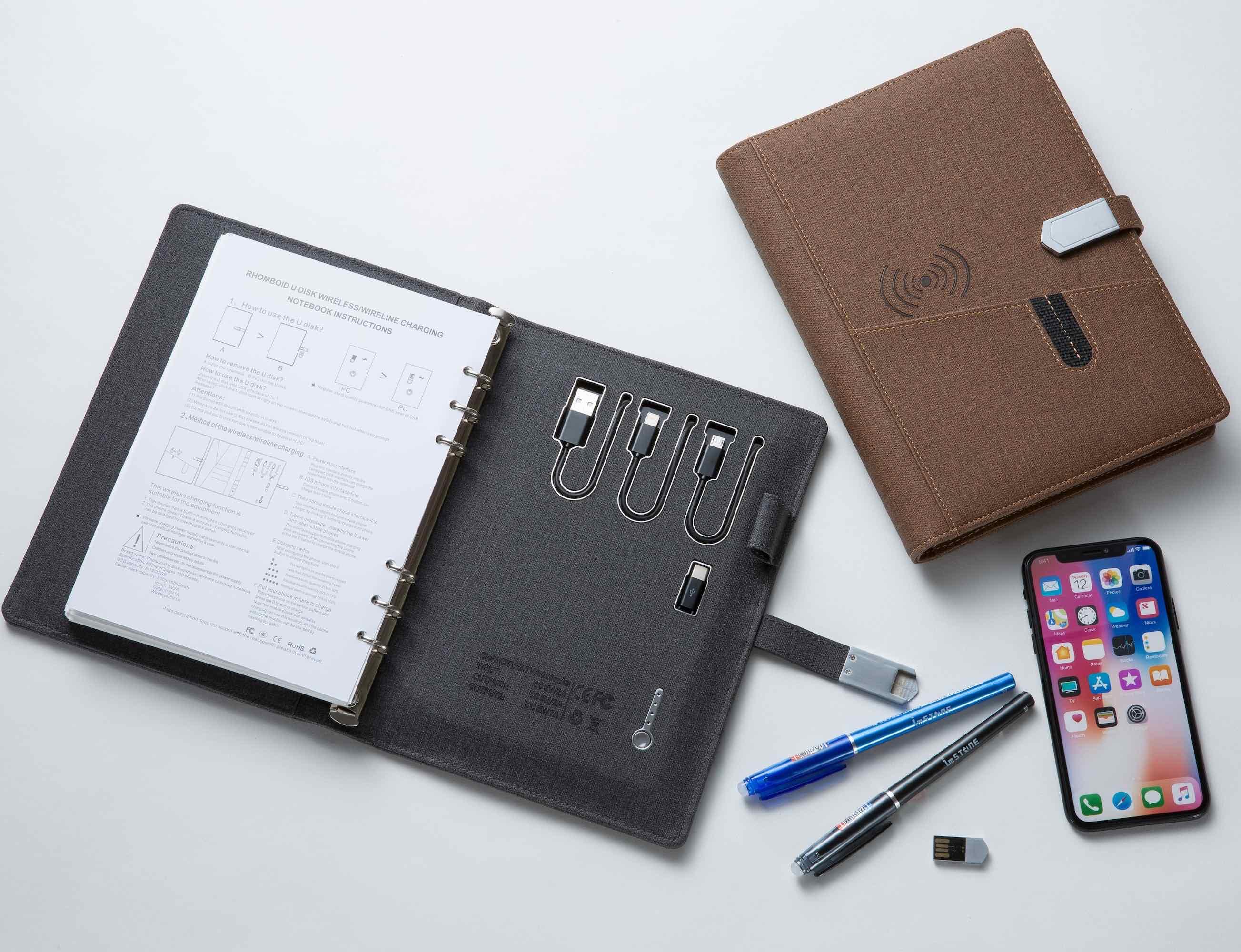 High Tech Wireless Charging Binder