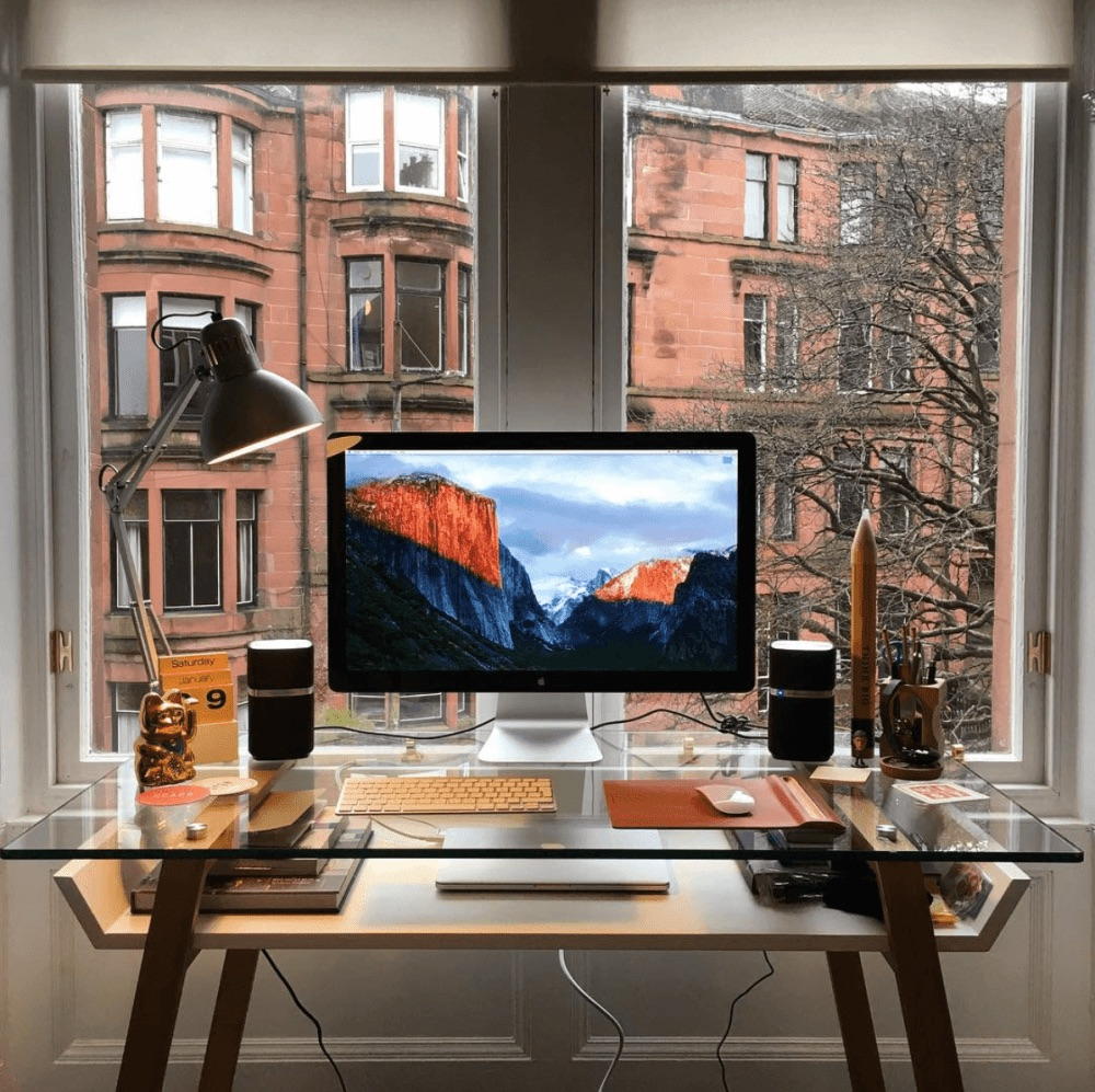 Desk setup by Kieron Scott
