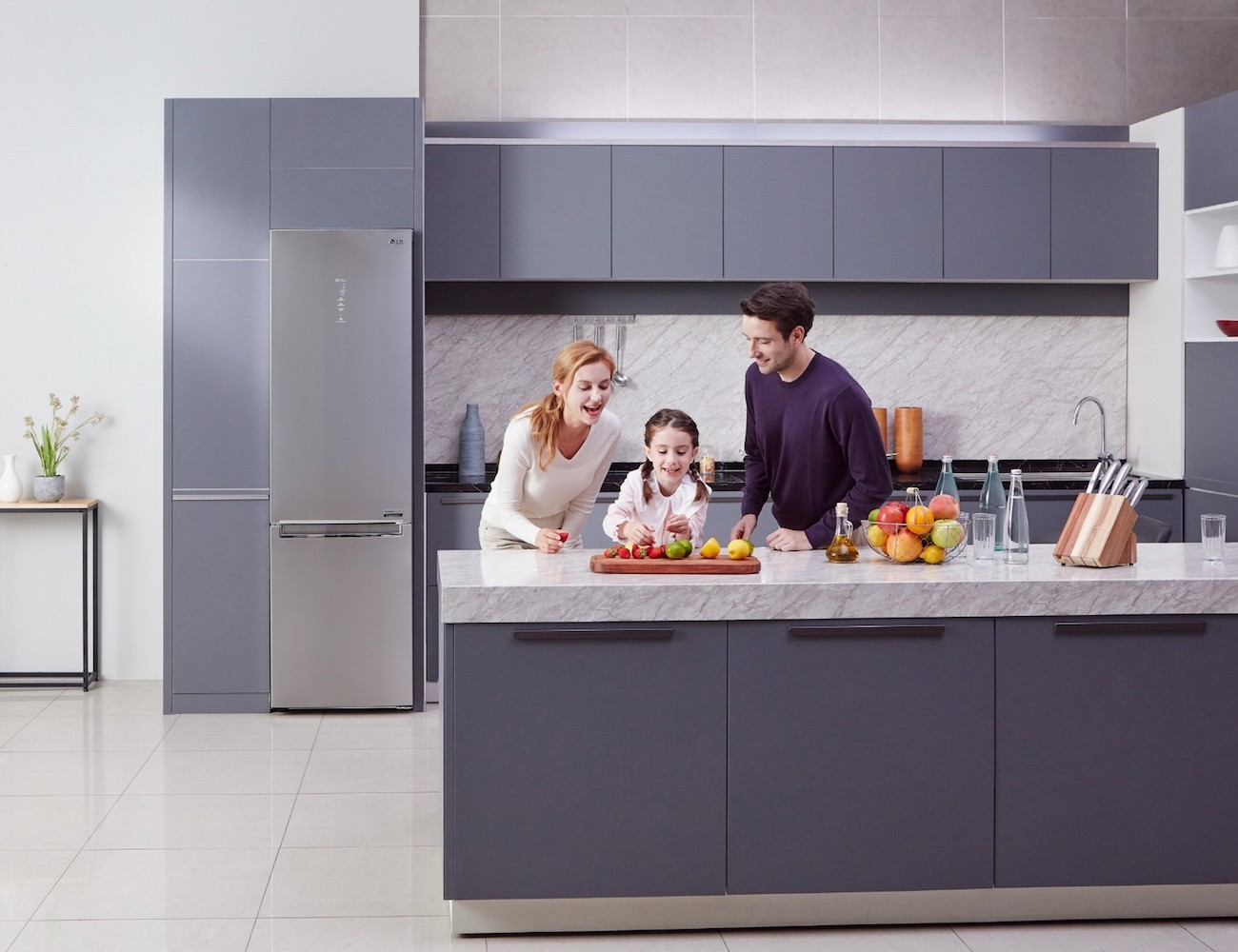 LG Centum System Energy Efficient Bottom-Freezer Refrigerator