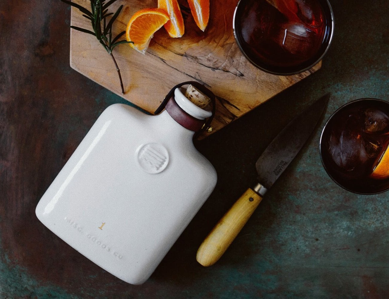 Misc. Goods Co. Slip Cast Ceramic Flask