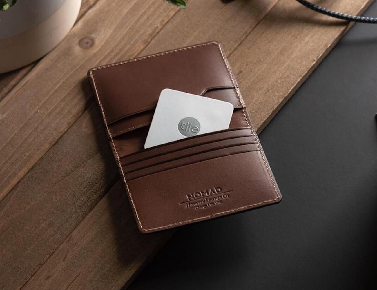 Nomad Tile Slim Tracking Wallet adds intelligence to style