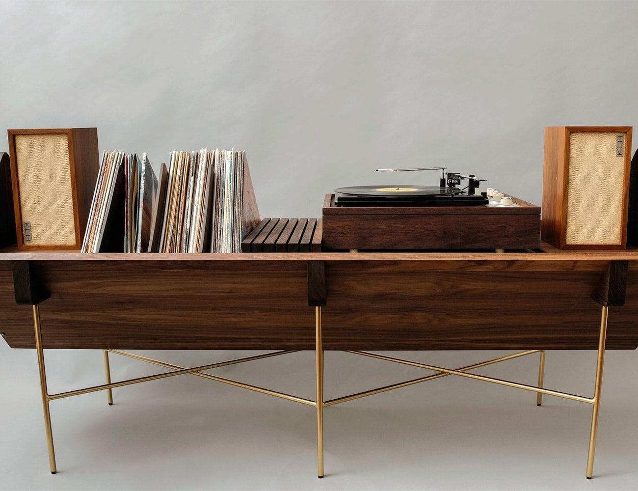 Sitskie OPEN 45 Credenza Modern Vinyl Setup