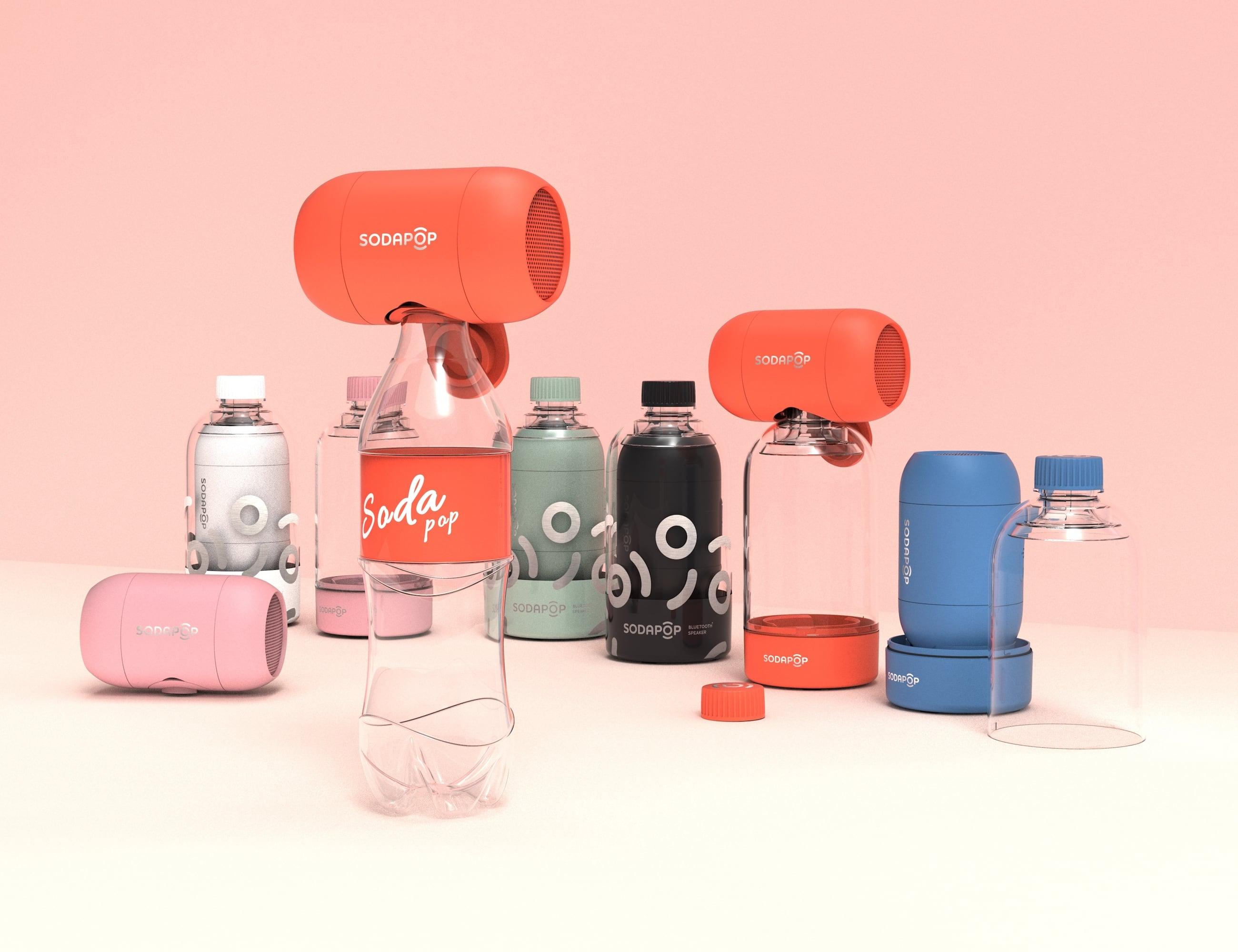 Sodapop Portable Expandable Bass Speaker