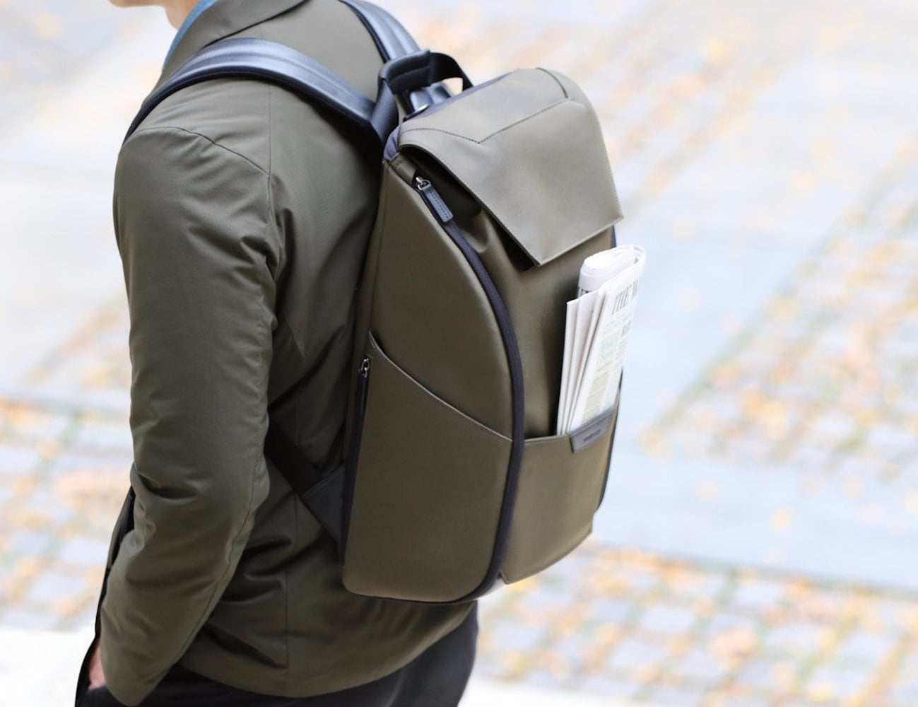 Stuart & Lau Capstone Lightweight Waterproof Backpack has a secure spot for everything
